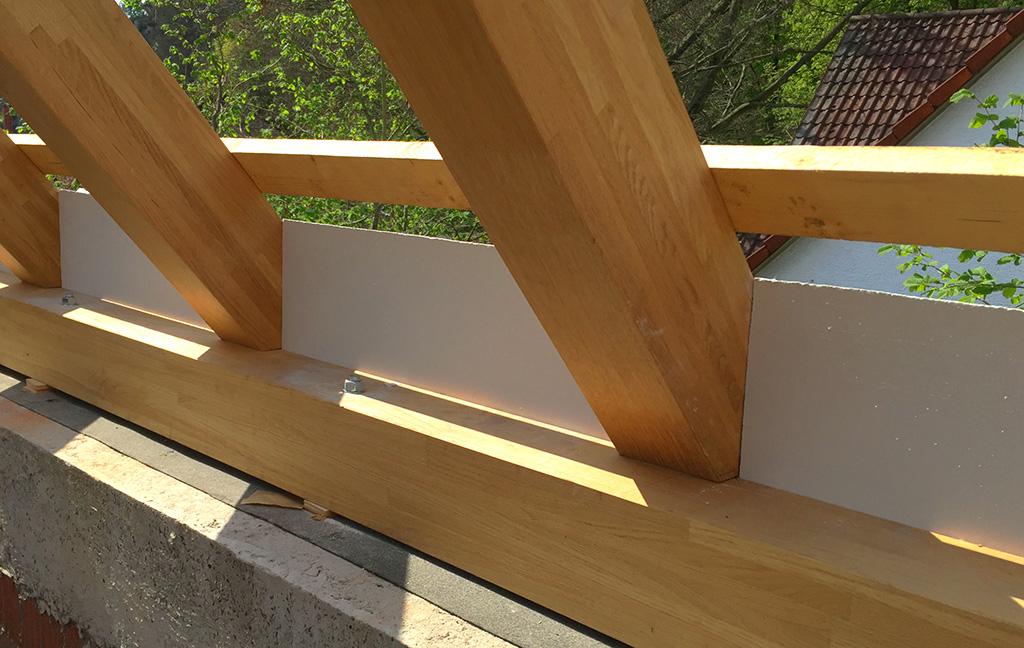 Dachstuhl aus eiche brettschichtholz - Dachstuhl ausbauen ...